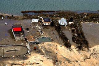 Homes damaged by Hurricane Sandy