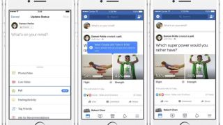Facebook now lets you make two-option polls with GIFs and