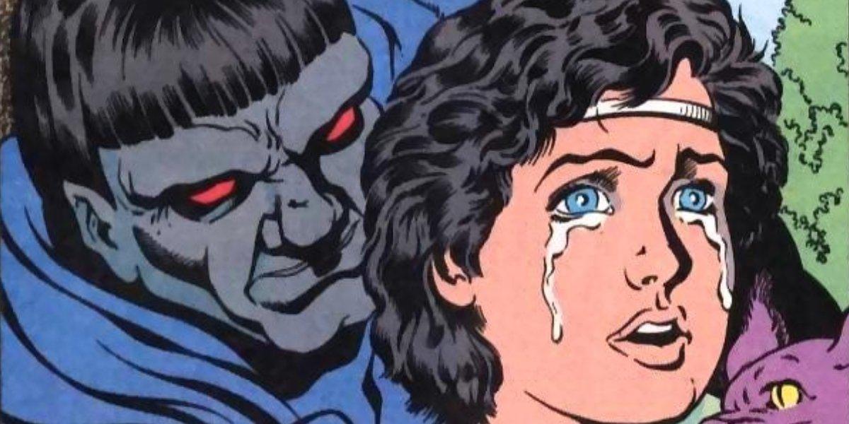 Darkseid corrupting young DeSaad