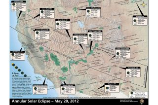 Map of Solar Eclipse Parks Viewing Sites