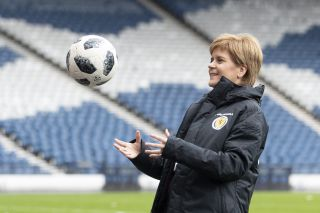 Funding announcement for Scottish football team