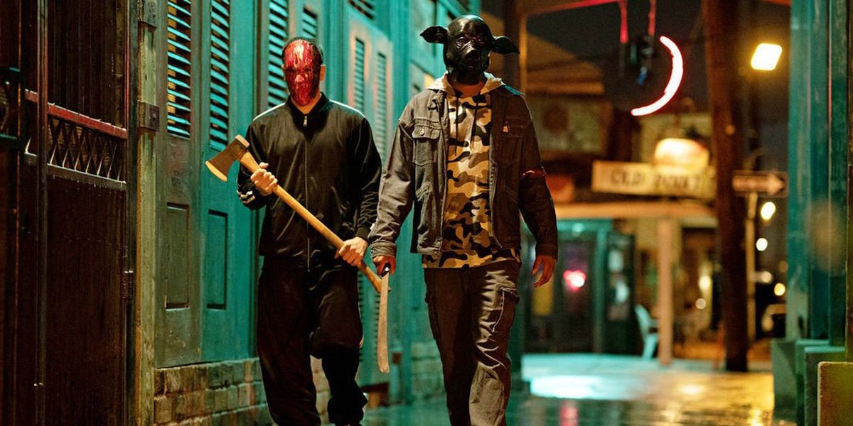 Masked men in The Purge