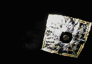 World's First Solar Sail Photographed in Deep Space