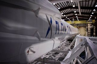 SpaceX's Falcon 9 Rocket in the Hangar