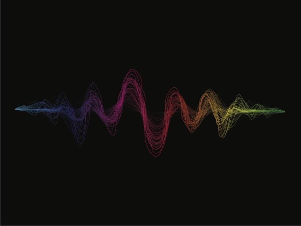 Sound waves illustration.