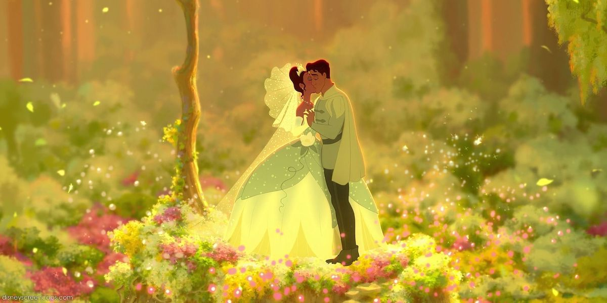 Tiana and Naveen wedding scene in The Princess and the Frog
