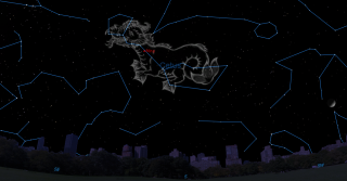 Cetus, the Whale (or Sea Monster) and the variable star Mira in the night sky Nov. 25 at 9 p.m. local time.