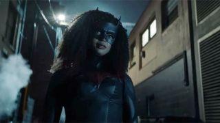 Ryan Wilder wearing the Batwoman suit.