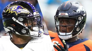 Lamar Jackson and Teddy Bridgewater who will play in the Ravens vs Broncos live stream