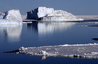 A polynya in Antarctica's Weddell Sea.