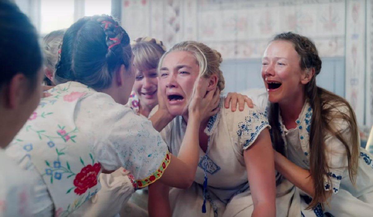 Midsommar Florence Pugh sobbing like crazy
