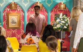zack attends daniel's naming ceremony