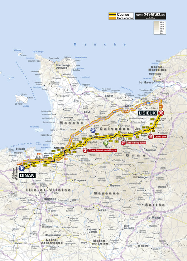 Stage 6 map, Tour de France 2011