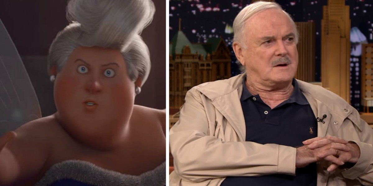 Fairy Godmother in Charming/ John Cleese in The Tonight Show with Jimmy Fallon