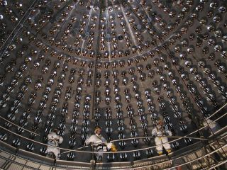 TheGran Sasso National Laboratory neutrino detector in Italy.