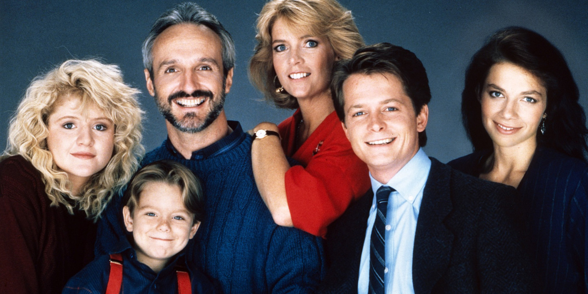 The cast of Family Ties.