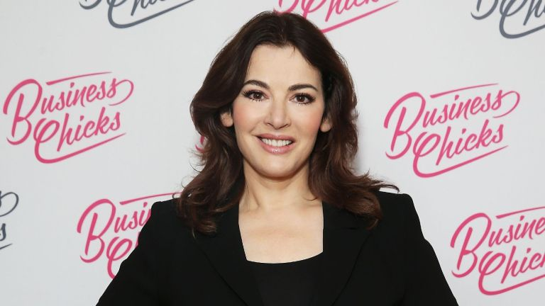 Nigella Lawson poses for the camera at a celebrity event