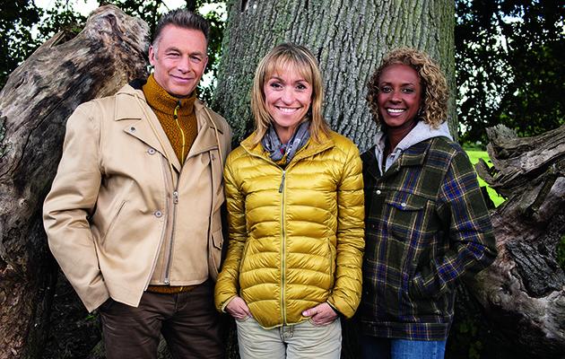 Winterwatch shows Chris Packham, Michaela Strachan and Gillian Burke