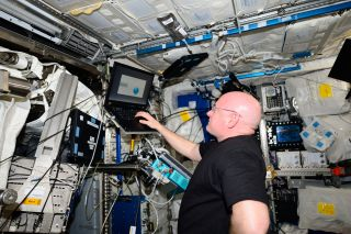 As part of his Year in Space mission, NASA astronaut Scott Kelly participated in the Cognition investigation, which consists of computerized tests that were developed to monitor how spaceflight affects an astronaut's mental abilities.