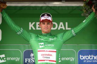 Mathieu van der Poel wears the leader's jersey