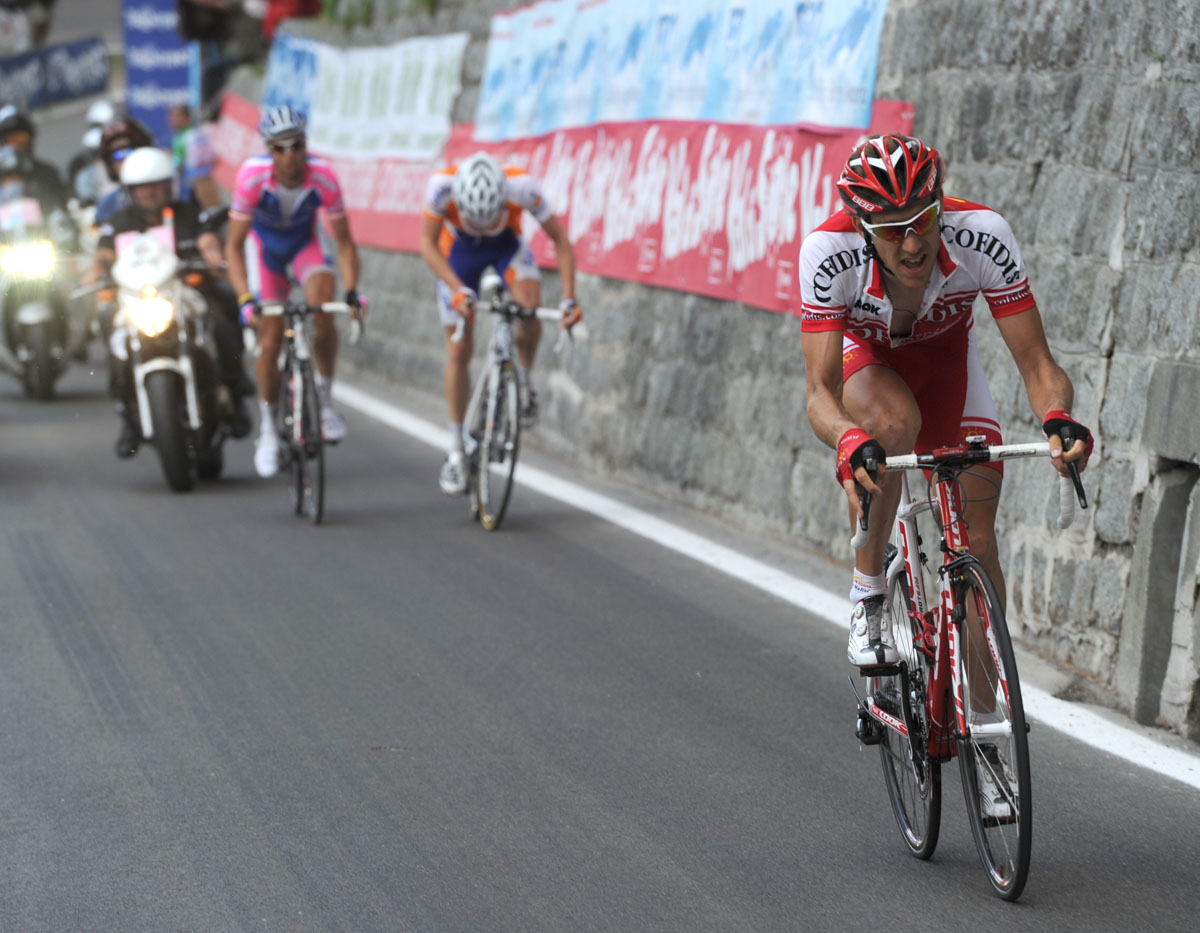 Damien Monier attacks, Giro d'Italia 2010, stage 17