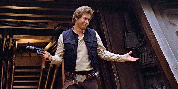 Han Solo, shrugging.