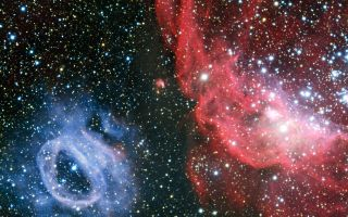 NGC 2014 and NGC 2020 in Large Magellanic Cloud 1920