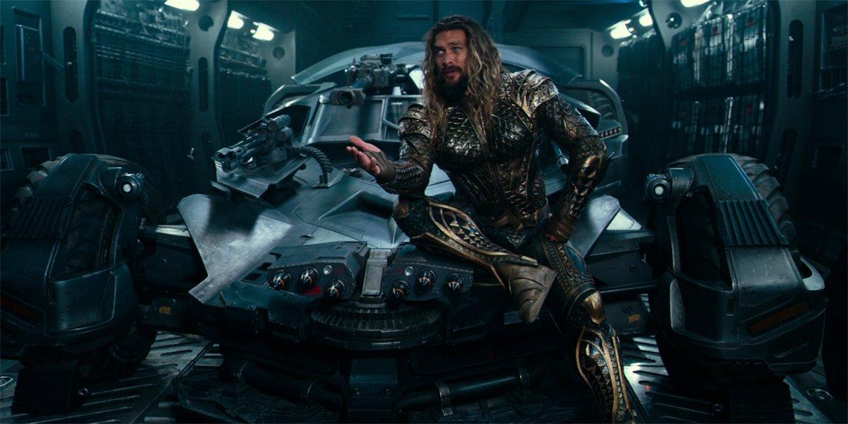 aquaman on batmobile in Justice League