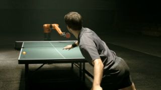 Robots still can't beat us at ping pong
