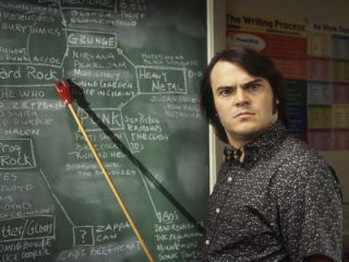 Jack Black in School of Rock (2003 Paramount Pictures. All Rights Reserved.)
