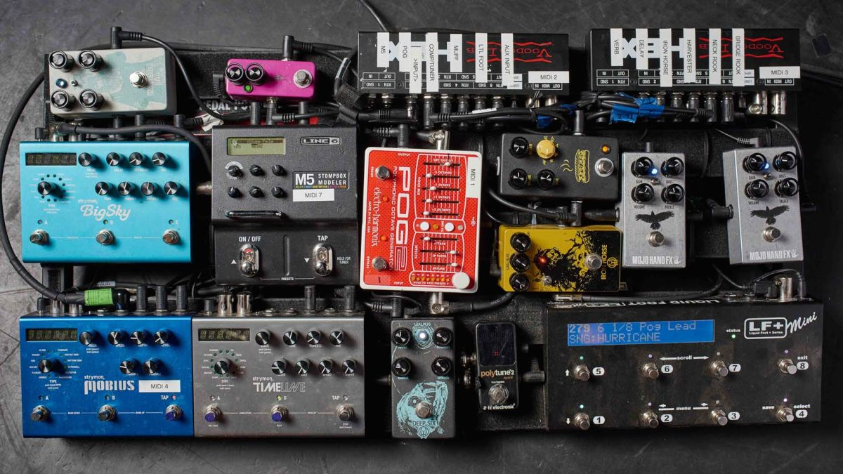 In Pictures 68 Pro Guitarists Pedalboards Musicradar The Tone Control Looks A Little Odd But Seems To Work Well Here Are