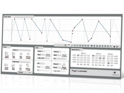 FilterShaper 2 enables you to draw complex modulation curves.