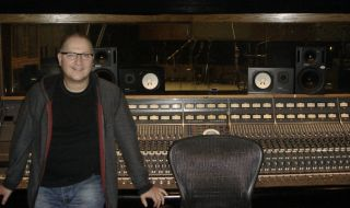 Gil Norton, pictured in Capitol Records studio in LA