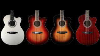 (l-r) Antique White, Cherry Sunburst, Tobacco Sunburst and Vintage Cherry
