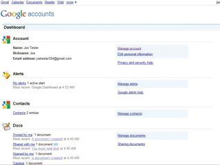 Google Dashboard transparancy on your data