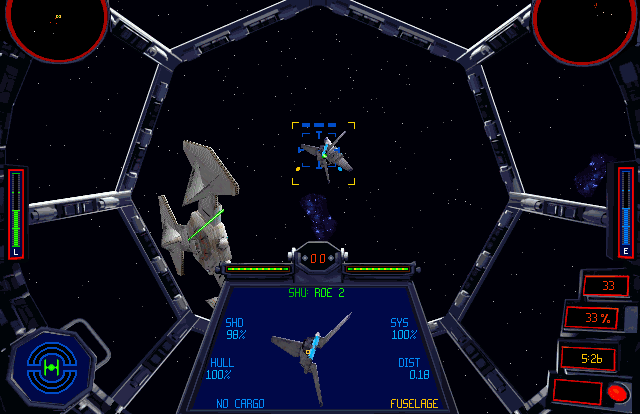 TIE Fighter: does a modern flight stick mesh with a classic