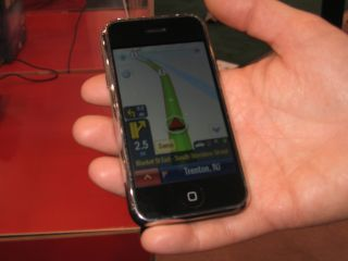 Co Pilot Live running on iPhone