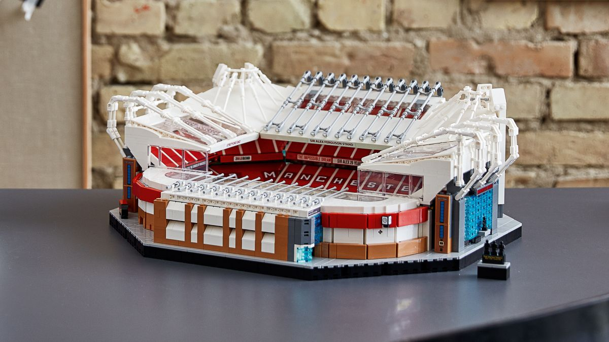 Lego's 4,000 piece Old Trafford set brings the theatre of dreams to your living room