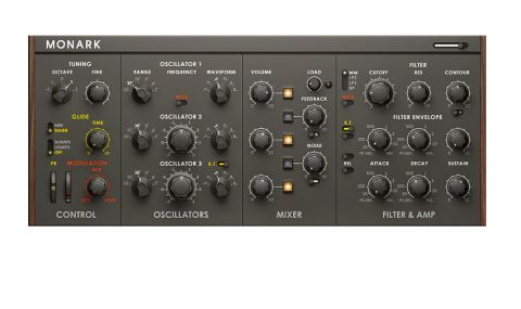 Monark models the classic Minimoog, offering perhaps the best emulation we've heard