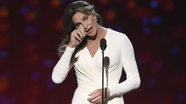 Caitlyn Jenner accepts the Arthur Ashe award for courage at the ESPY Awards