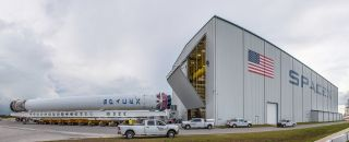 Used SpaceX Rocket Goes in the Hangar