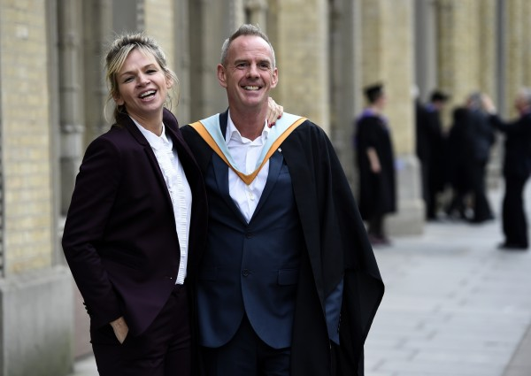 Zoe Ball with her husband Norman Cook, the DJ and producer Fatboy Slim