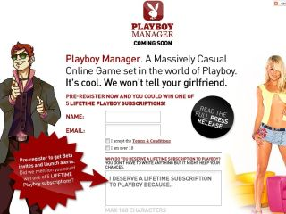 Jolt Online Gaming launching Playboy Manager online game later this year