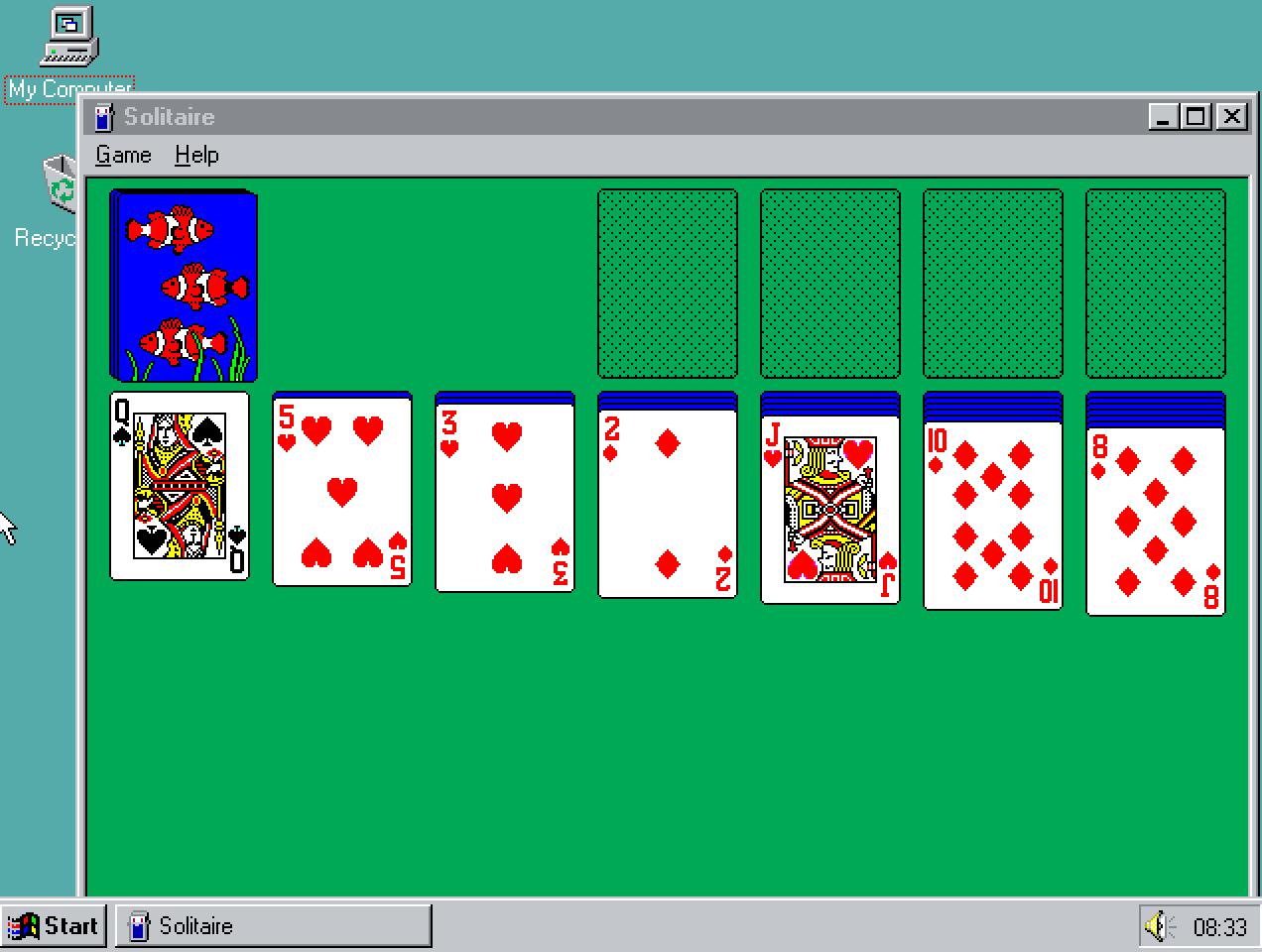 Resultado de imagen para solitaire windows 95
