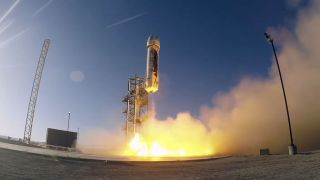 Jeff Bezos launches suborbital spacecraft