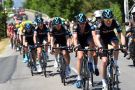 Luke Rowe leads Team Sky on stage sixteen of the 2015 Tour de France