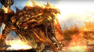 This Skyrim: Special Edition video showing 100 dragons vs