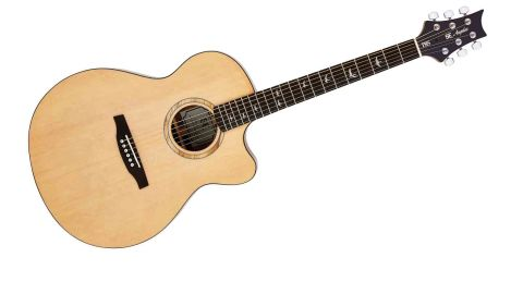 The Lifeson retains the solid spruce top of the US models but with laminated dao back and sides