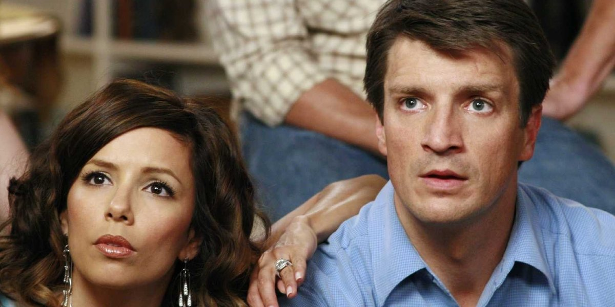 Eva Longoria and Nathan Fillion on Desperate Housewives