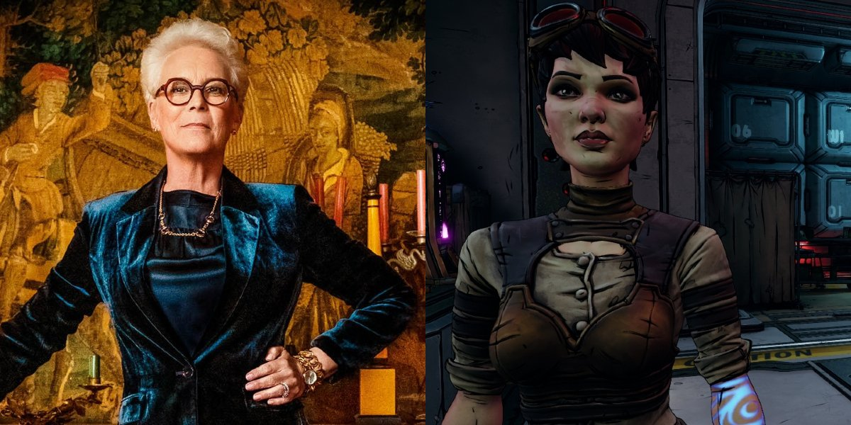 Jamie Lee Curtis and Tannis side by side